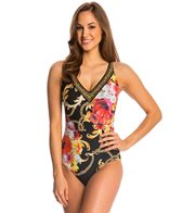 Gottex Barococo V Neck Tank One Piece Swimsuit