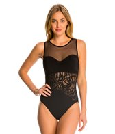 Profile by Gottex Rainforest High Neck One Piece Swimsuit