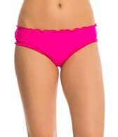 Hobie Solid Scalloped Hipster Bikini Bottom