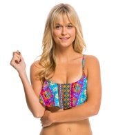 Hobie Sun Daze Stripe Hanky Crop Bikini Top