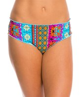 Hobie Sun Daze Stripe Scalloped Hipster Bikini Bottom