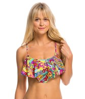 Hobie Peace, Love, and Paisley Hanky Crop Bikini Top