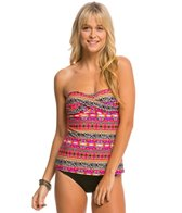 Hobie What's Knot To Like? Twist Bandeau Tankini Bikini Top
