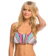 Hobie Striped Surprised Hanky Crop Bikini Top