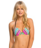 Hobie Striped Surprised Push Up Underwire Bikini Top