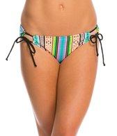 Hobie Striped Surprised Adjustable Hipster Bikini Bottom