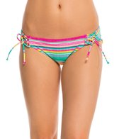 Hobie Salt Air Stripe Lace Up Hipster Bikini Bottom