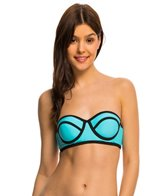 Hobie Tie Dye For Solid Underwire Bandeau Bikini Top