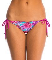 Sofia Del Mar Ripple Tie Side Bikini Bottom