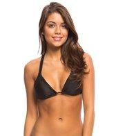 Sofia Solid Black Strings Bikini Top
