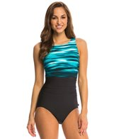 Reebok Skyview High Neck One Piece Swimsuit