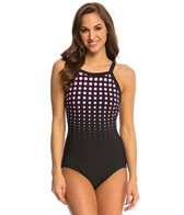 Reebok Hits the Spot High Neck One Piece Swimsuit
