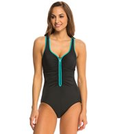 Reebok Zig Zag One Piece Swimsuit