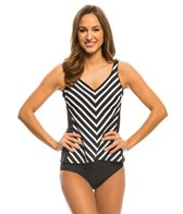 Active Spirit Stripe of Genius Tankini Top