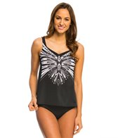 Active Spirit Ivory & Ebony Tankini Top