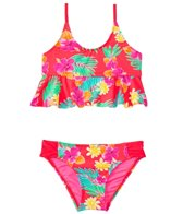Hobie Girls' Swimwear Tropical Locales Hanky Bralette Bikini Set (7yrs-14yrs)