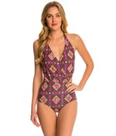 Betsey Johnson Bohemian Rose One Piece Swimsuit