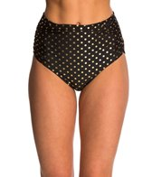 Betsey Johnson Swimwear Milkshake High Waist Bikini Bottom