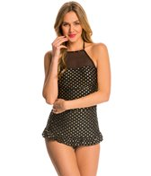 Betsey Johnson Milkshake One Piece Swim Dress Swimsuit