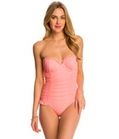 Betsey Johnson Ballerina Mesh One Piece Swimsuit