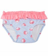 Platypus Girls' UPF 50+ Seashells Swim Diaper (6-24 months)