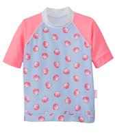 Platypus Girls' UPF 50+ Seashells S/S Rash Guard (6mos-8yrs)