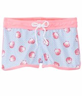 Platypus Girls' UPF 50+ Seashells Lycra Boardshort (18mos-8yrs)