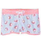 Platypus Girls' UPF 50+ Seashells Lycra Boardshort (18mos-8yrs)
