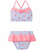 Platypus Girls' UPF 50+ Seashells Bikini Set (6mos-8yrs)