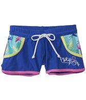 Platypus Girls' UPF 50+ Flamingo Lycra Boardshort (3yrs-14yrs)