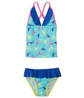 Platypus Girls' UPF 50+ Flamingo Tankini Set (3yrs-14yrs)