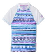 Platypus Girls' UPF 50+ Aztec S/S Fitted Rash Guard (7yrs-14yrs)