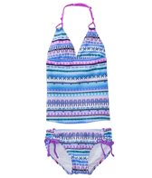 Platypus Girls' UPF 50+ Aztec Loop Tankini Set (7yrs-14yrs)