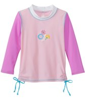 Platypus Girls' UPF 50+ Bloom Ruched L/S Rash Guard (18mos-8yrs)