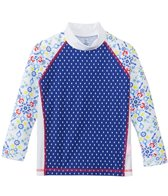 Platypus Girls' UPF 50+ Kaleidoscope L/S Panel Rash Guard (18mos-8yrs)