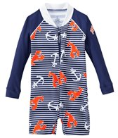 Platypus Boys' UPF 50+ Lobster Catch L/S Baby Sunsuit (6-24 months)