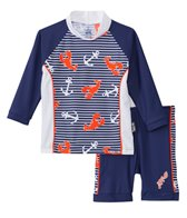 Platypus Boys' UPF 50+ Lobster Catch L/S Baby Rash Guard Set (6-24 months)
