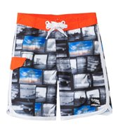 Platypus Boys' UPF 50+ Graphic Waves Slim Boardshort (7yrs-14yrs)