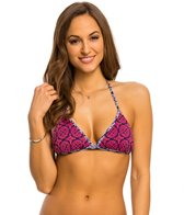 Tommy Bahama Lace Medallion Reversible Triangle Halter Bikini Top