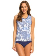 Tommy Bahama Stamped Medallion Tank Rashguard Top