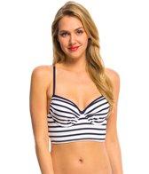 Tommy Bahama Mare Stripe X Back Crop Bralette Bikini Top (B/C/D/DD Cup)