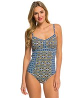 Tommy Bahama Tile Medallion One Piece Swimsuit