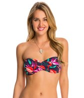 Tommy Bahama Birds of Paradise Twist Bandeau Tie Back Bikini Top