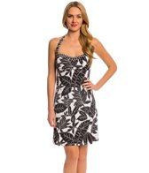 Tommy Bahama Graphic Leaf Halter Spa Swimdress