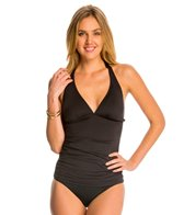 Tommy Bahama Pearl Solids Long Halter Tankini Top