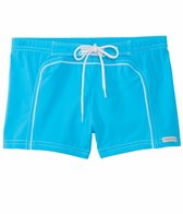 Sauvage Solid 70s Swim Surfer Square Cut Swim Trunk