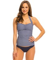 Helen Jon White Sands Convertible Retro Tankini Top