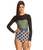 Seea Strands Hermosa L/S One Piece Swimsuit