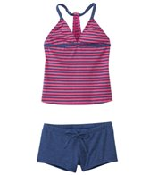 Splendid Girls' Malibu Stripe Tankini & Boy Short Two Piece Set (7yrs-14yrs)