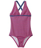 Splendid Girls' Malibu Stripe Halter One Piece Swimsuit (7yrs-14yrs)